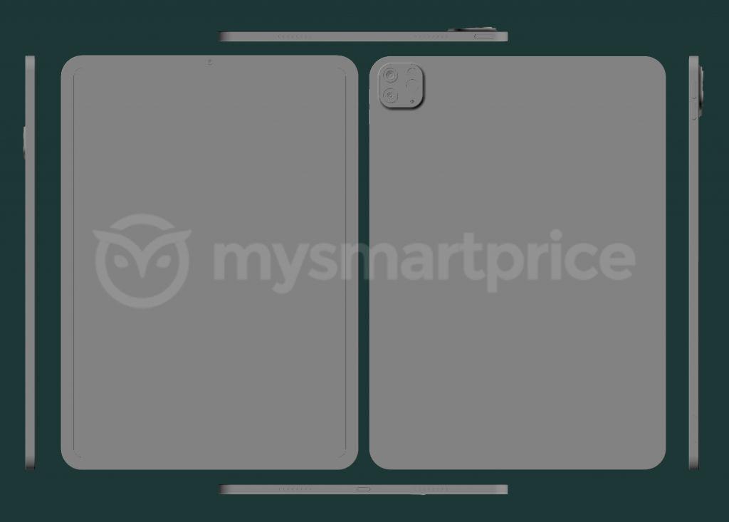 iPad Pro 11 (2021) RAW CAD Render