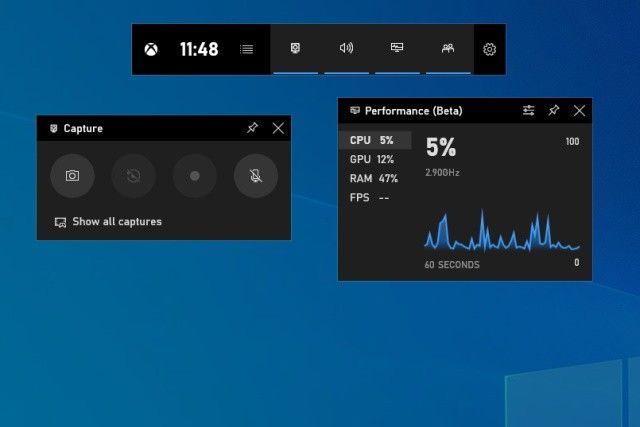 Screen recording Xbox Game Bar Windows 10