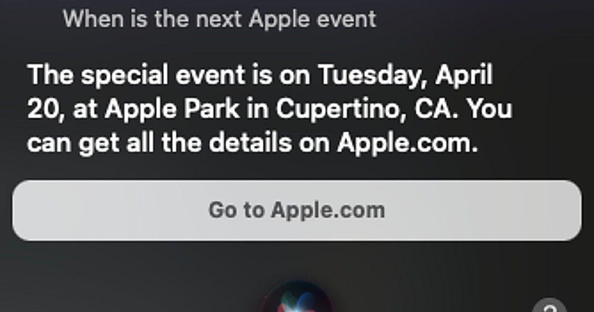 Apple event April 2021