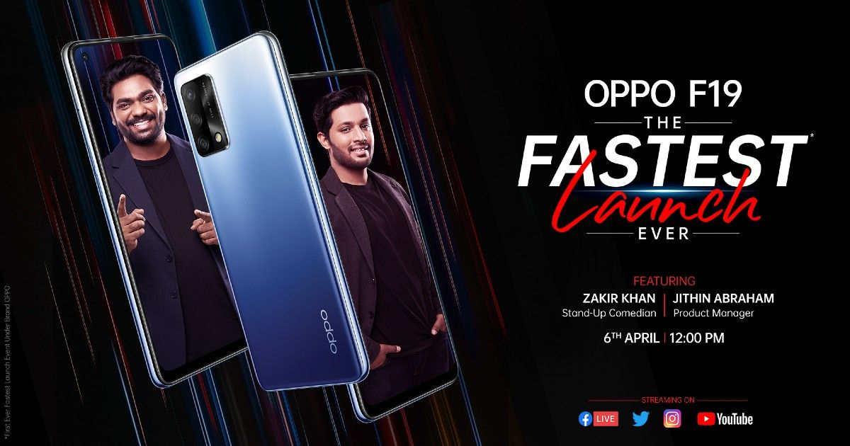 Oppo F19 India launch teaser