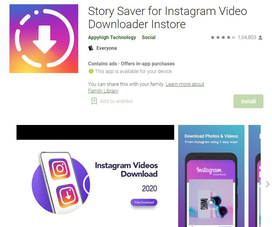 Story Saver Android App
