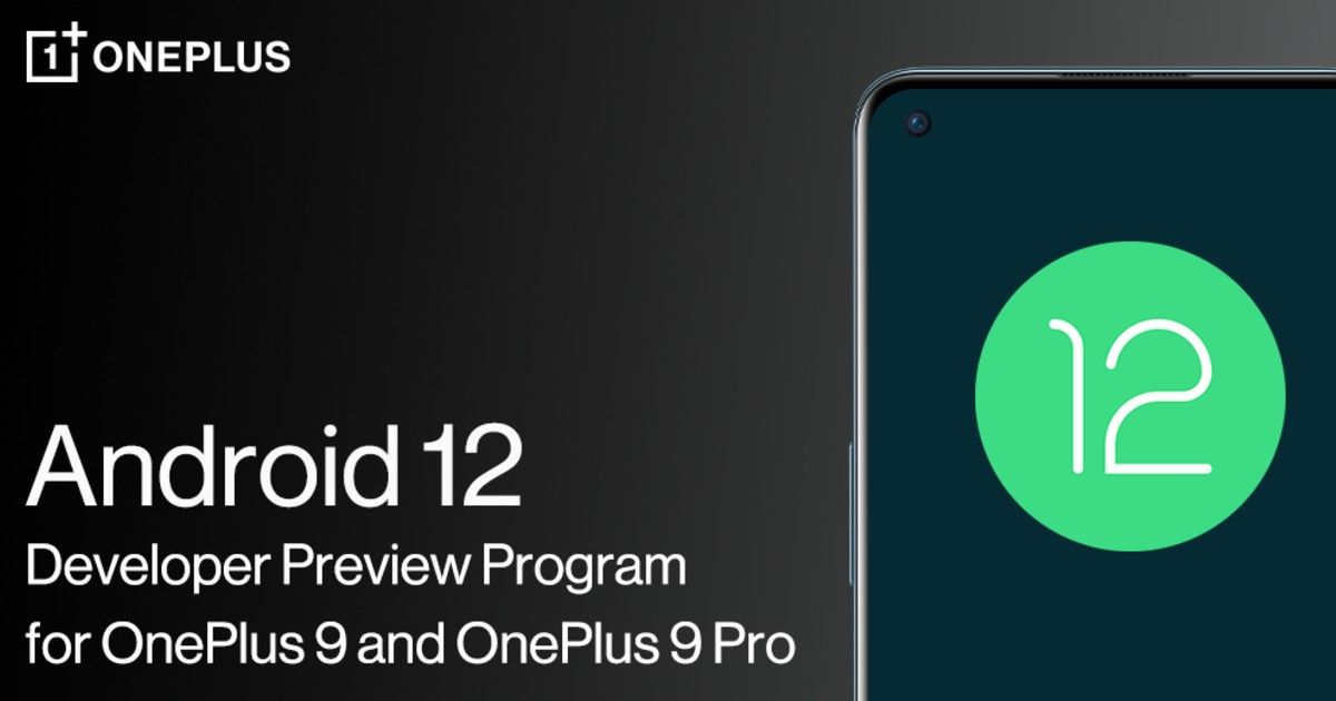 Android 12 developer preview OnePlus 9