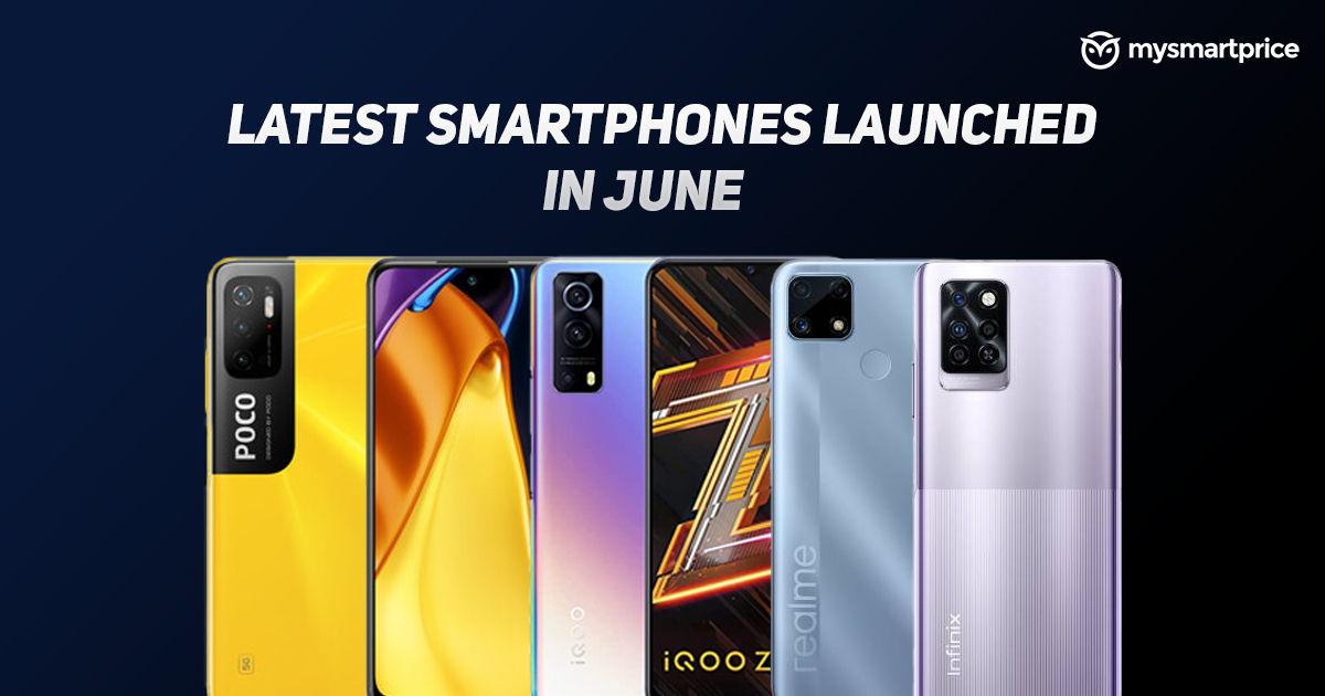 Smartphones launched in June 2021