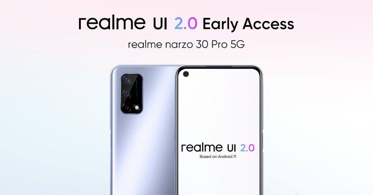 Realme UI 2.0 Narzo 30 Pro