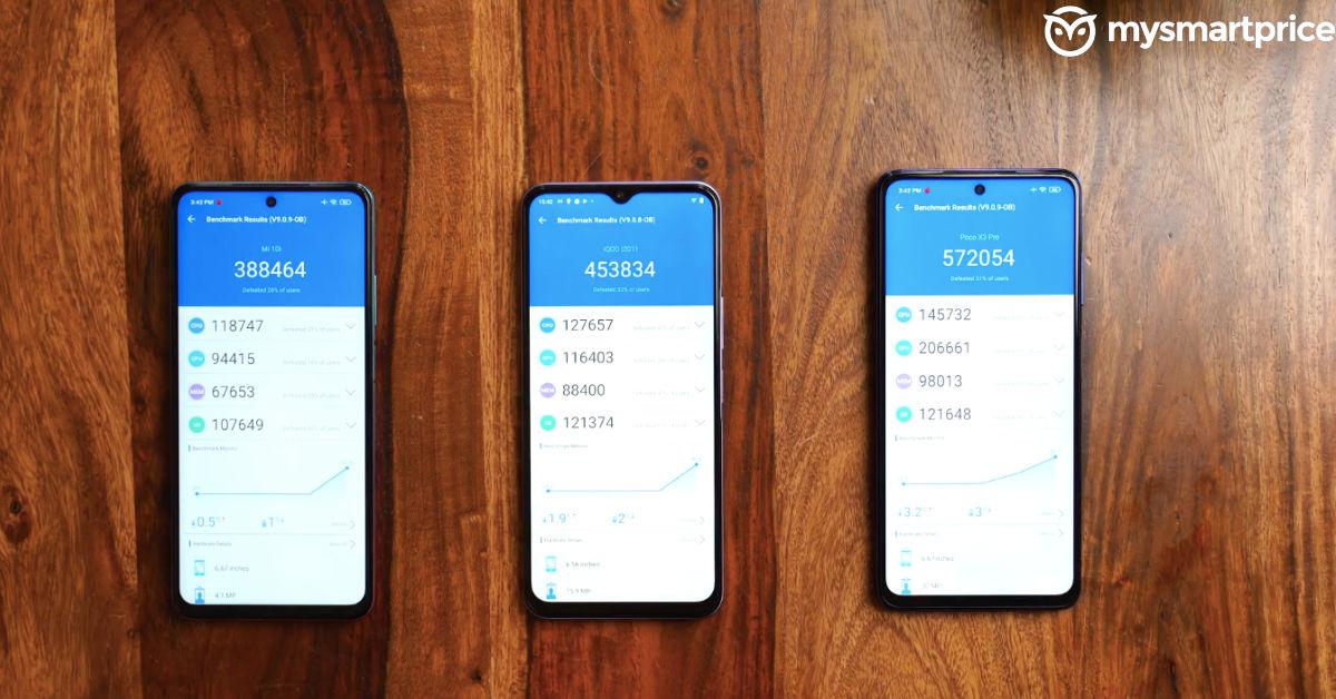 Snapdragon 768G vs Snapdragon 750G vs Snapdragon 860 -AnTuTu Scores