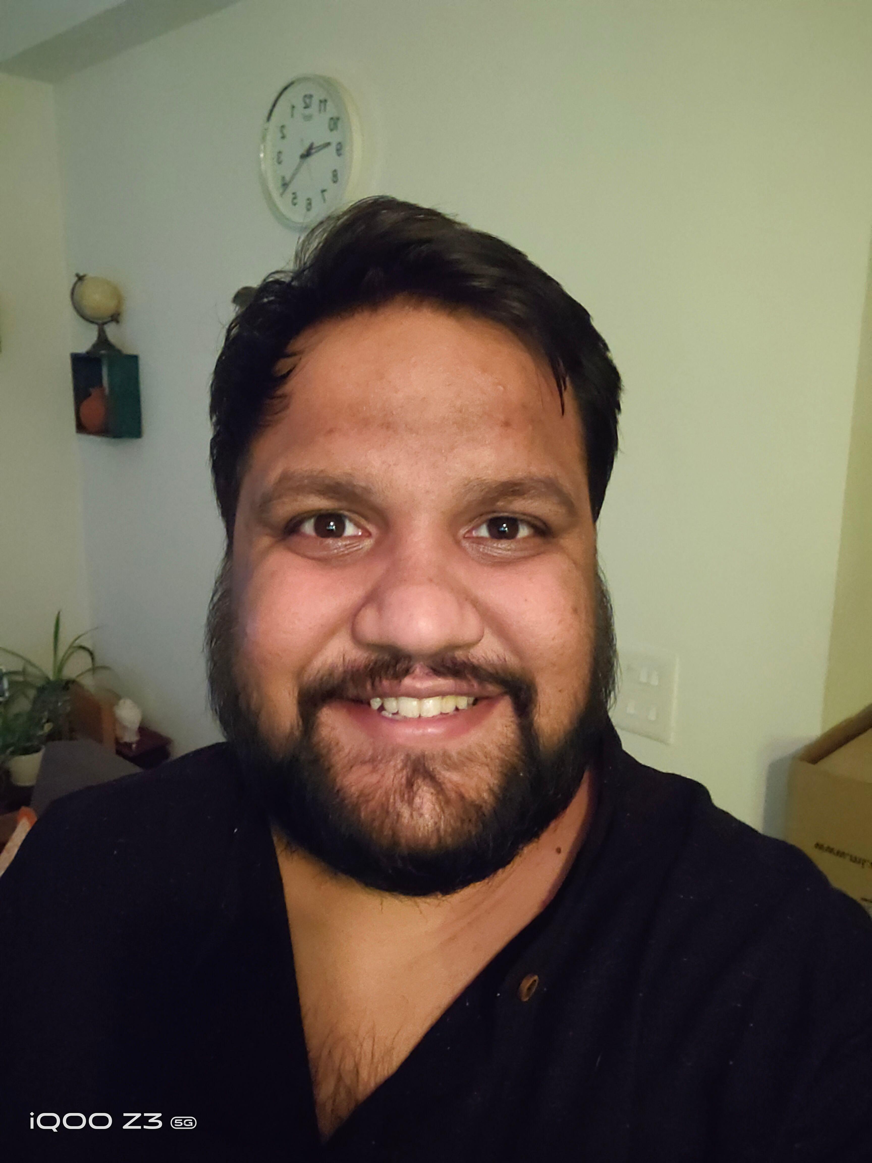 iQOO Z3 5G Camera Low Light Selfie