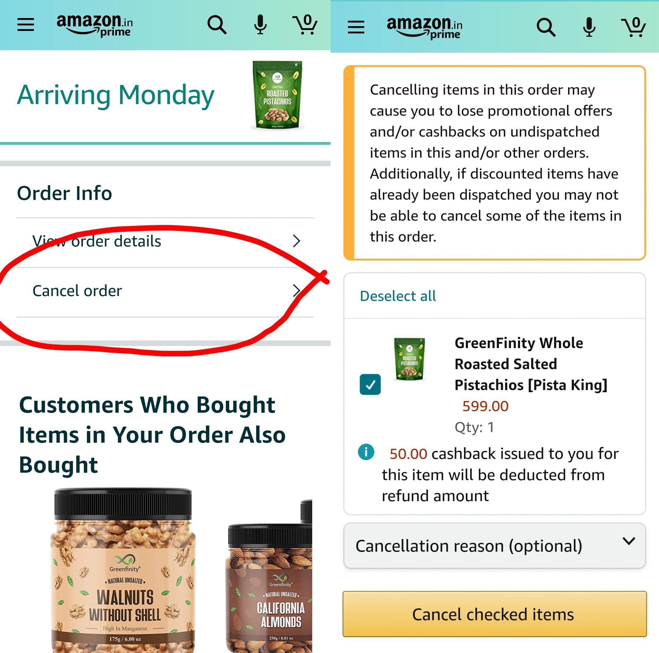 amazon cancel order app