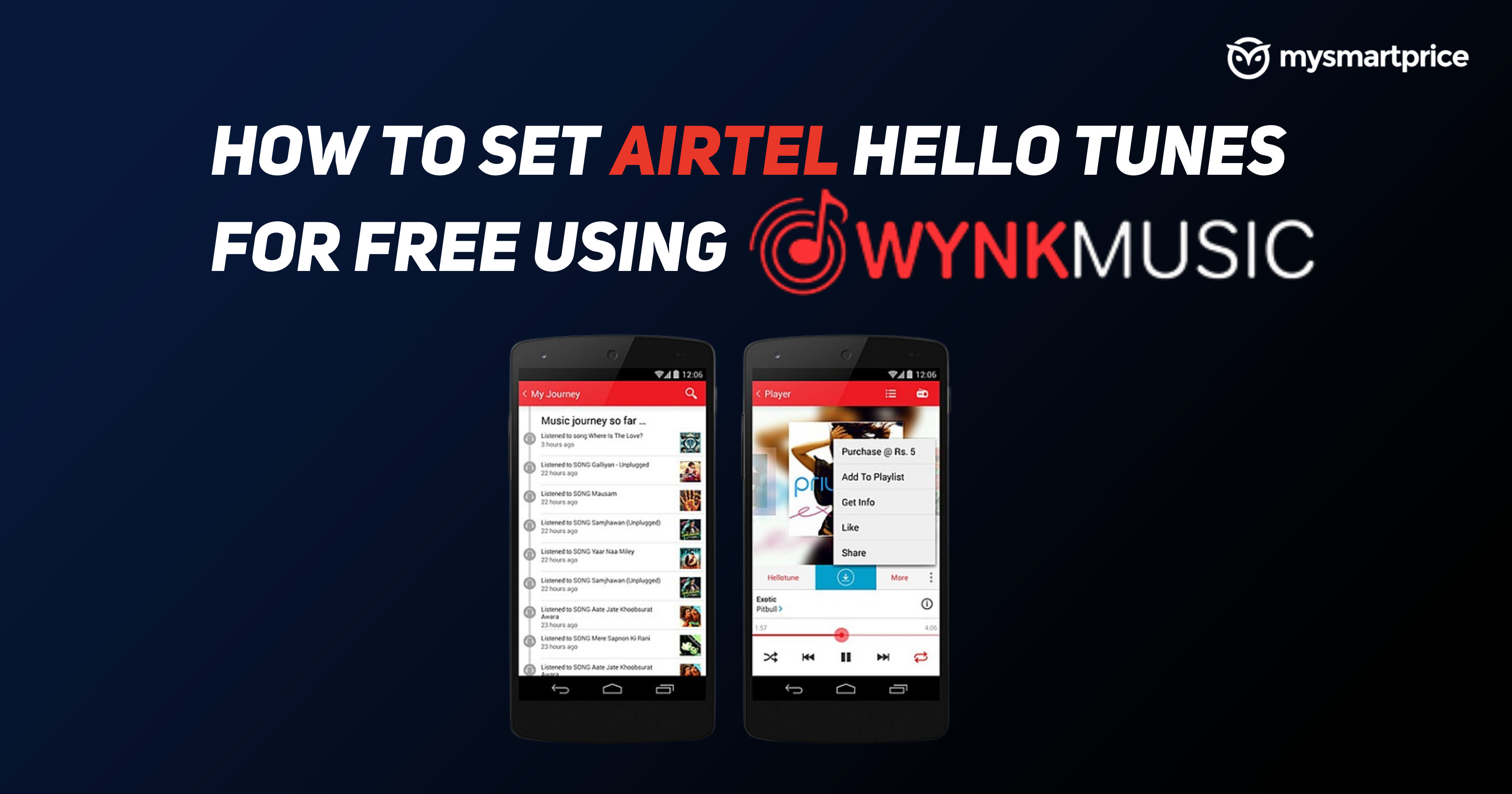 How to Set Airtel Hello Tunes for Free Using