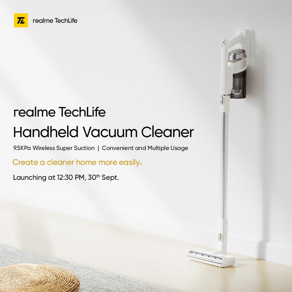 Realme Techlife Handheld Vacuum Cleaner launching on September 30