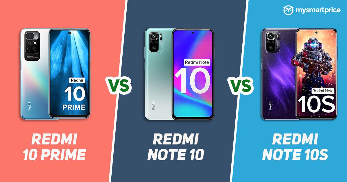 Redmi 10 Prime vs Redmi Note 10 vs Redmi Note 10S