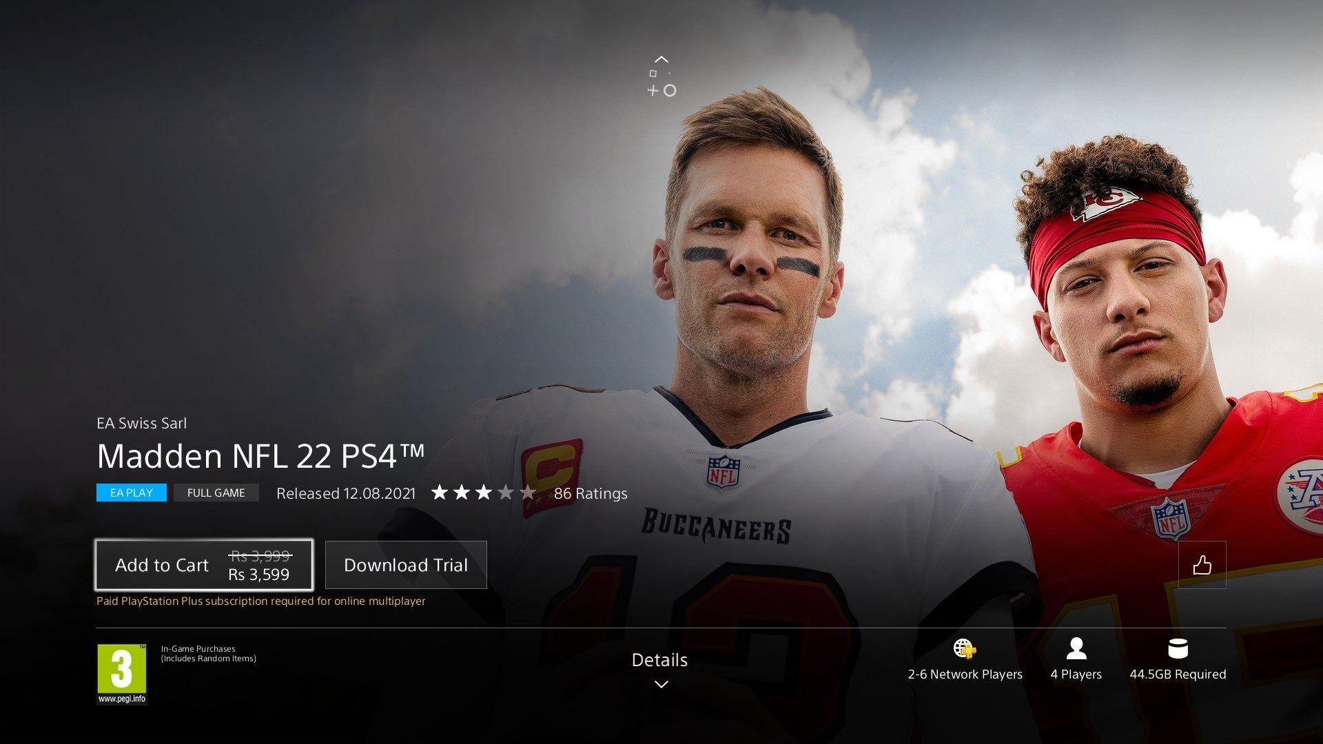 FIFA 22, PlayStation Store