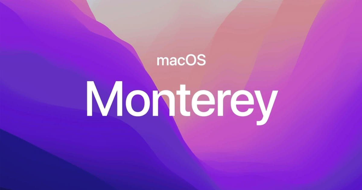 MacOS Monterey will roll out on October 25