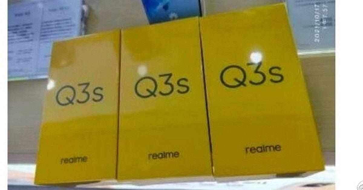 Realme Q3s retail box